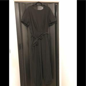 Black Jumpsuit with Tie Belt!